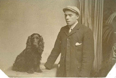 Joseph Gibbs with dog