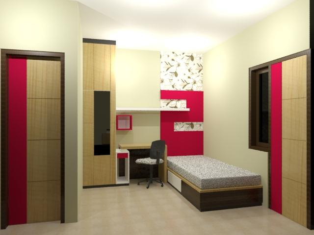interior kamar kost sederhana