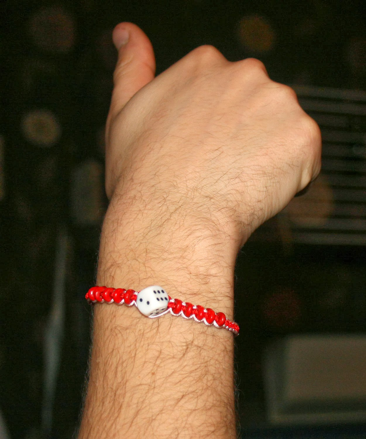 Me wearing my Baba Marta band