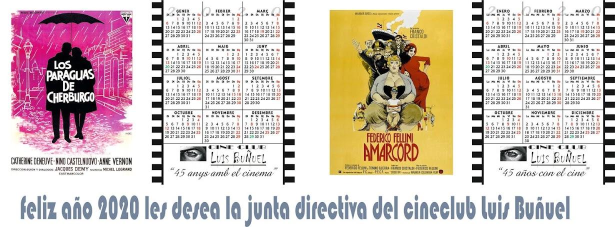 Calendarios Cine Club Luis Buñuel para el Año 2020
