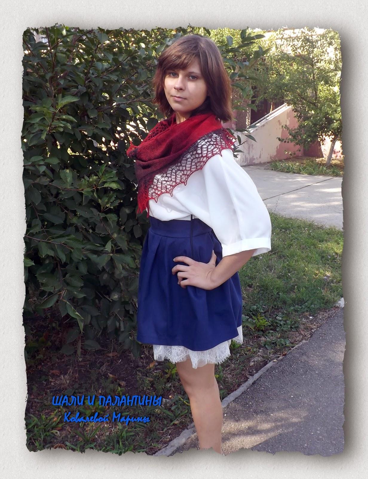 шарфик, вязаный шарфик