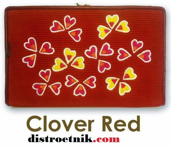 model terbaru dompet hpo namian clover red
