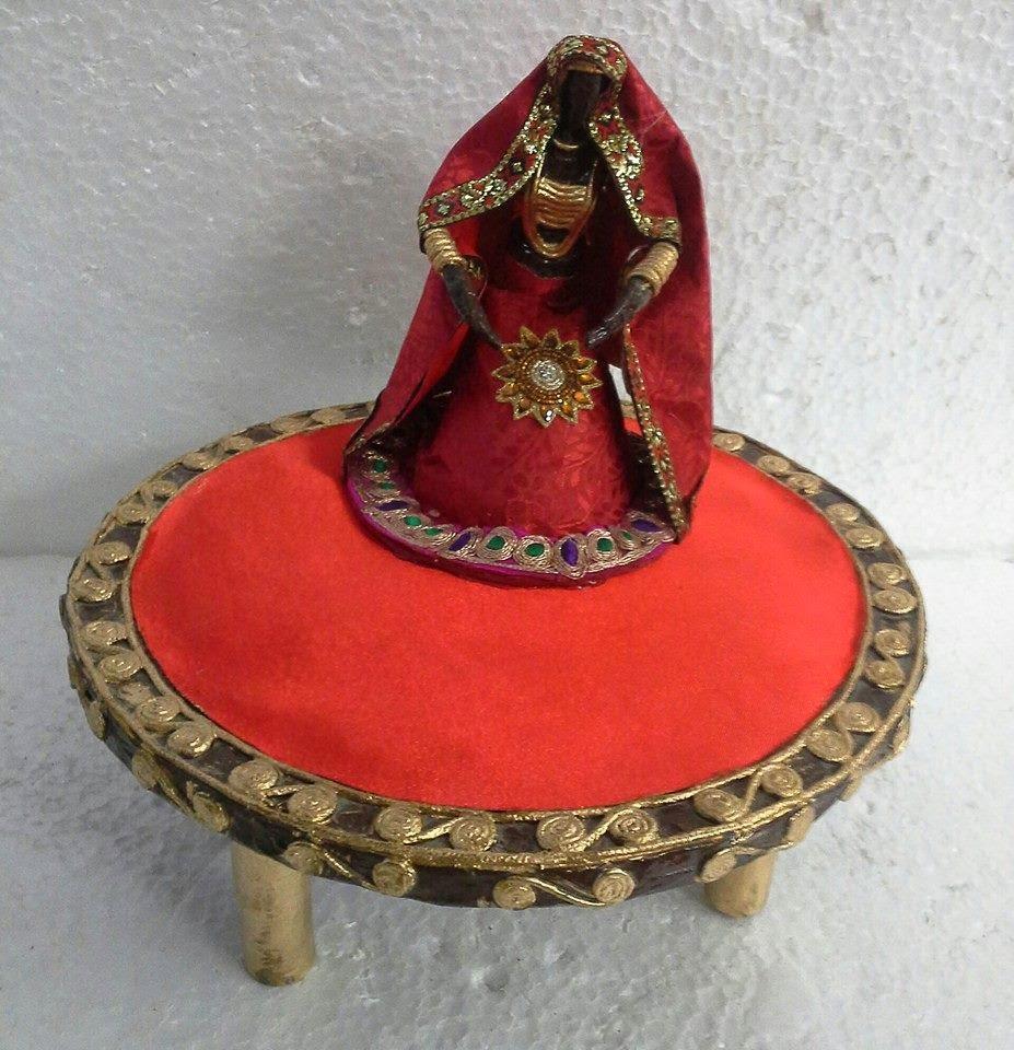Indian Wedding Theme Trays In Paper Mashe Art Work