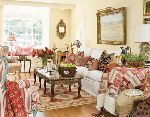 Incredible French Country Cottage Decorating a Living Room 525 x 411 · 85 kB · jpeg