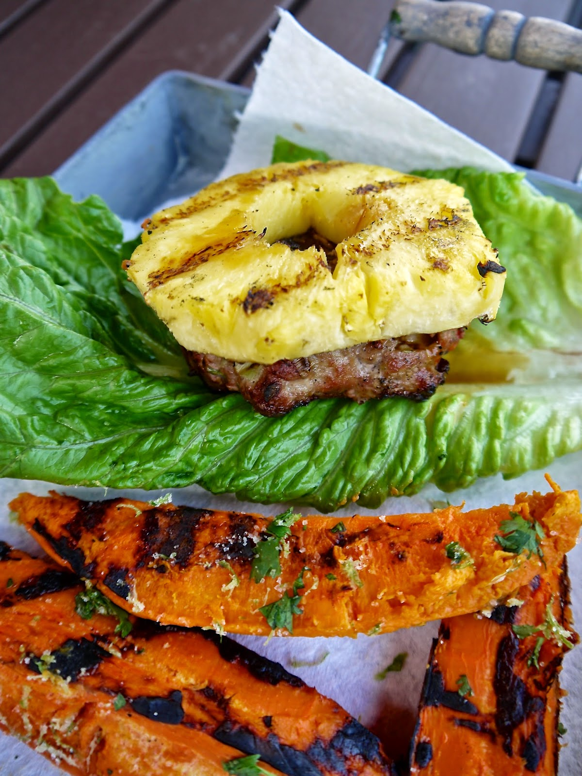 paleo grilled pineapple & teriyaki turkey burgers