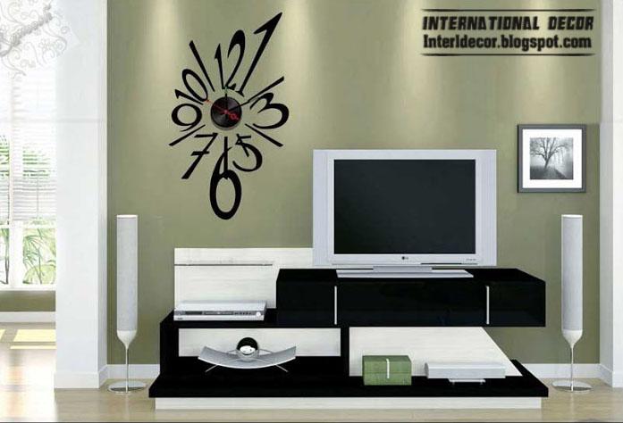 Interior Design 2014 Modern wall clock stickers styles clock
