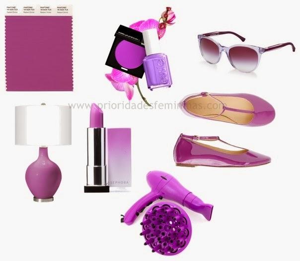 cor do ano orquídea radiante, objetos
