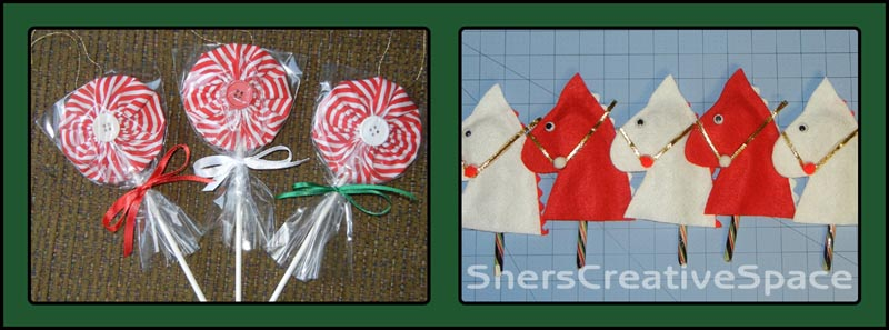 Sher\'s Creative Space: Hobby Horse Candy Cane & Lollipop Ornaments