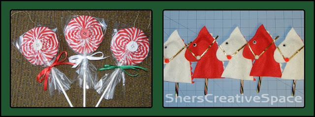 free pattern download, free pattern christmas pattern, christmas ornament, free ornament pattern, hobby horse pattern, lollipop pattern, yo yo pattern,, sewing tutorial, embroidery tutorial