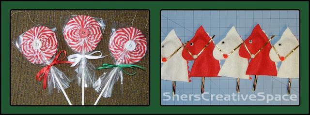 free pattern download, free pattern christmas pattern, christmas ornament, free ornament pattern, hobby horse pattern, lollipop pattern, yo yo pattern,, sewing tutorial, embroidery tutorial