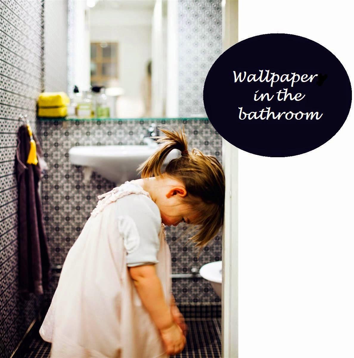 Mprojektownia Tapeta W łazience