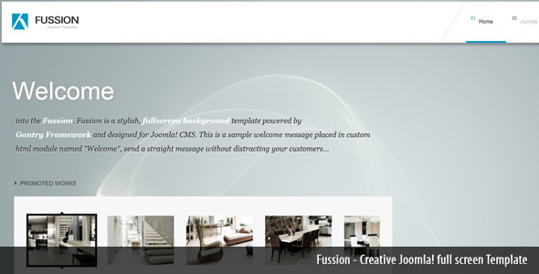 Fussion Creative full screen Joomla! Template