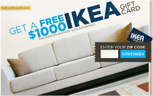Ikea Furniture $1000 Gift Card