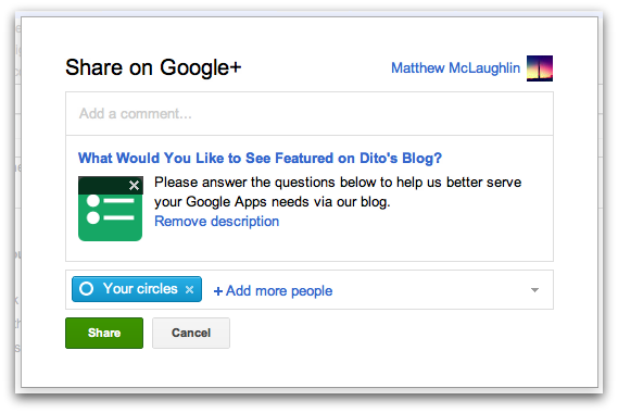 How to Share Google Forms Directly on Google+ - Google Cloud ...