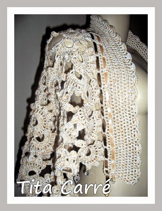 Estola-capa em crochet