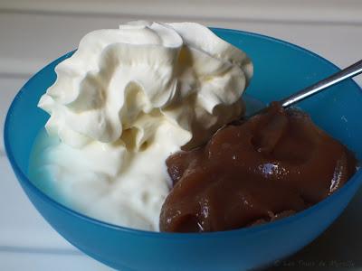 Fromage blanc à la crème de marrons et à la chantilly (voir la recette)