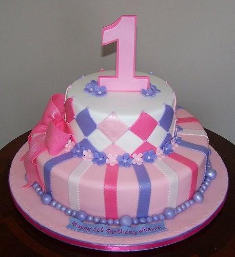 Cake With Photo Order : 1st Birthday Cakes For Girls Order Birthday Cake Online ...
