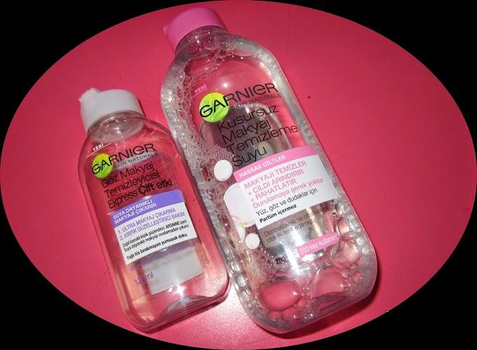 Değerlendirme #44: Bir Blogger 2 Ürün/ Garnier Kusursuz Makyaj Temizleme Suyu vs. Garnier Express Göz Makyaj Temizleyici