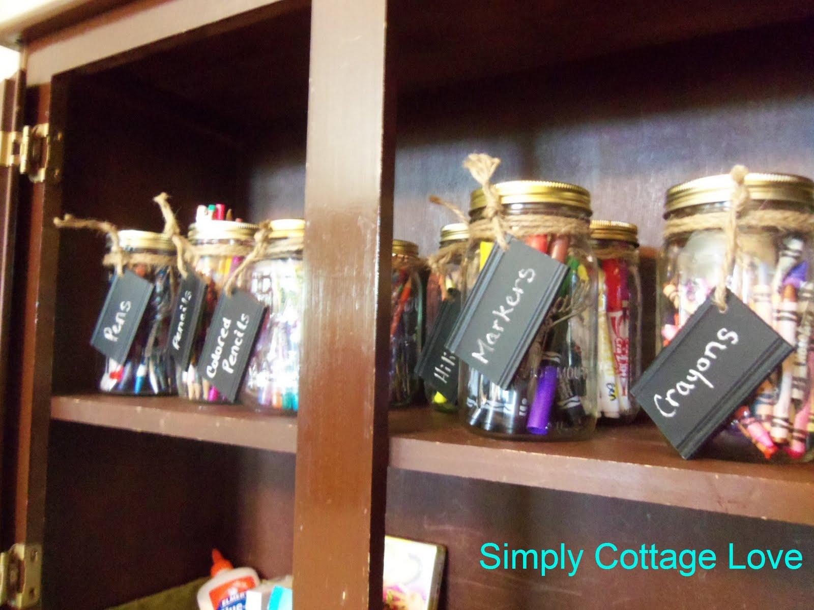 School Supplies Cabinet {ReOrganize}