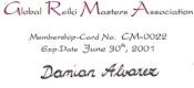Miembro de la Asociación Internacional de Maestros de Reiki