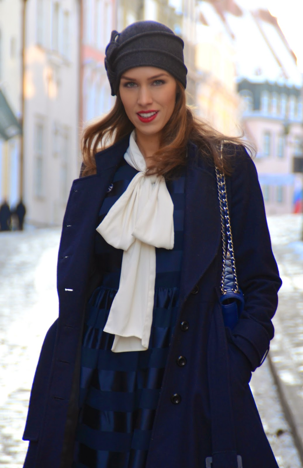 asos-white-pussybow-blouse-lindex-sheer-blue-dress