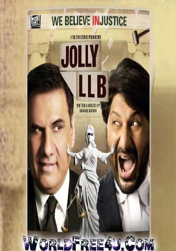 Poster Of Bollywood Movie Jolly LLB (2013) 300MB Compressed Small Size Pc Movie Free Download worldfree4u.com