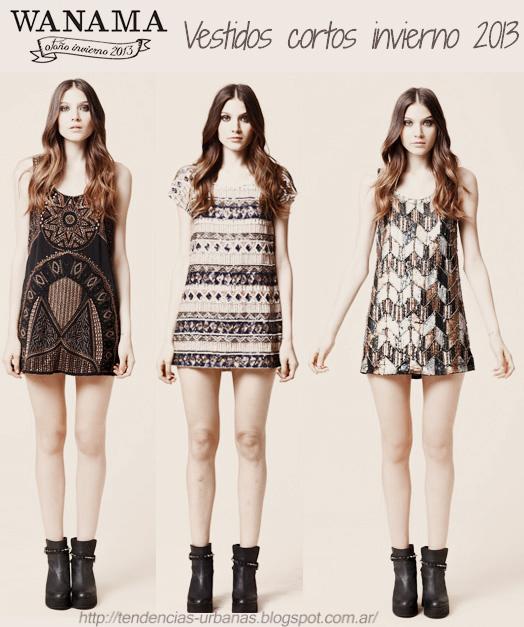 Vestidos cortos de fiesta invierno 2015