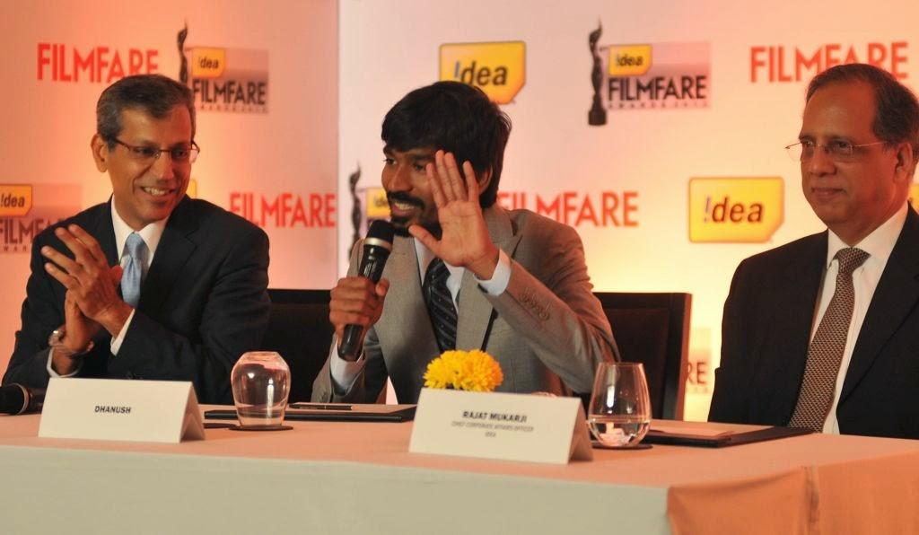 Dhanush at Idea film fare awards-HQ-Photo-7