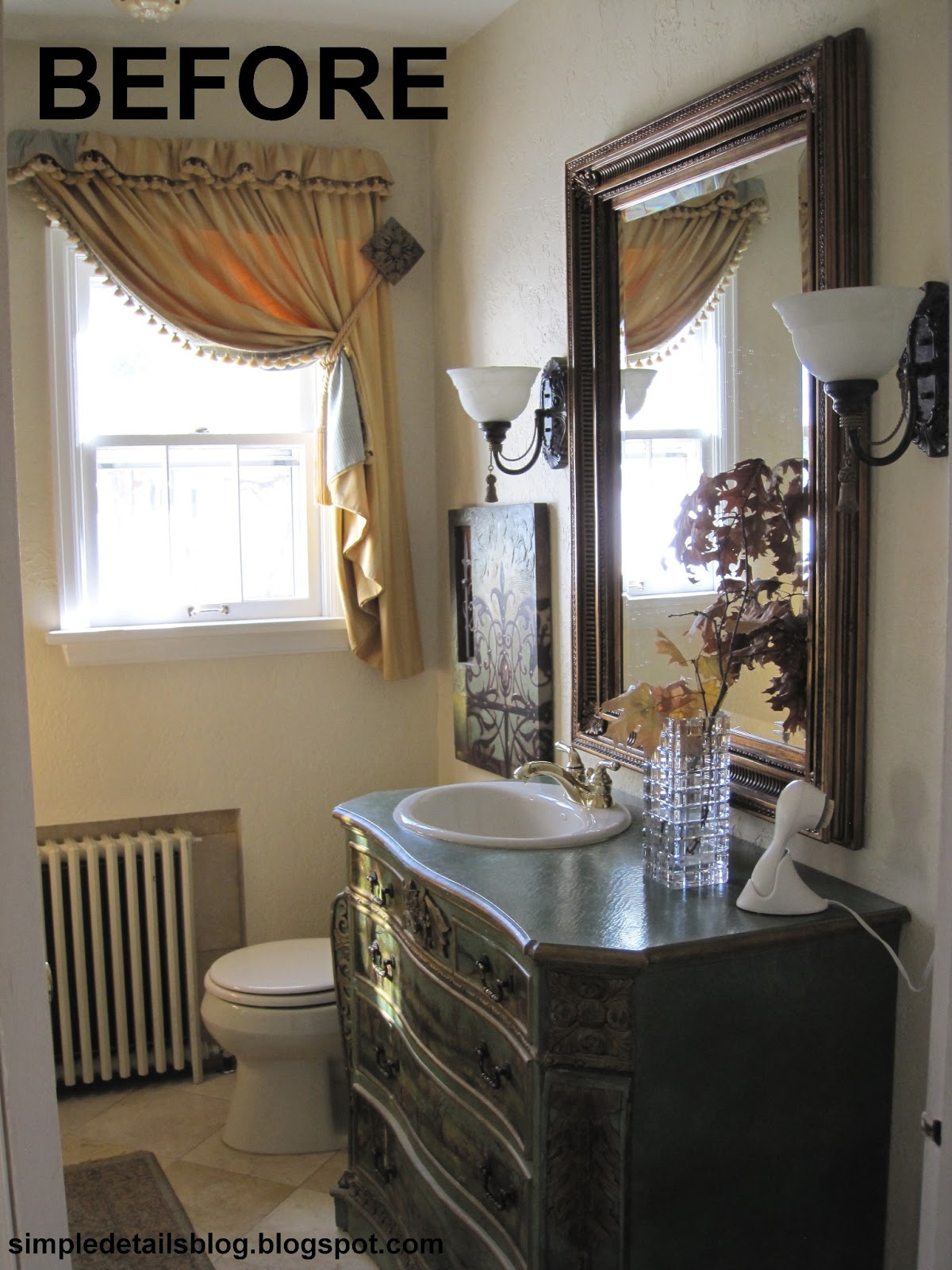 Diy bathroom window curtains - I Searched Long And Hard For That Matching Art