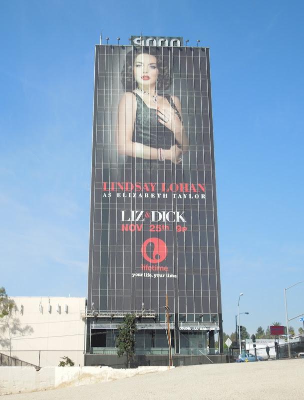 Giant Liz and Dick Lifetime billboard