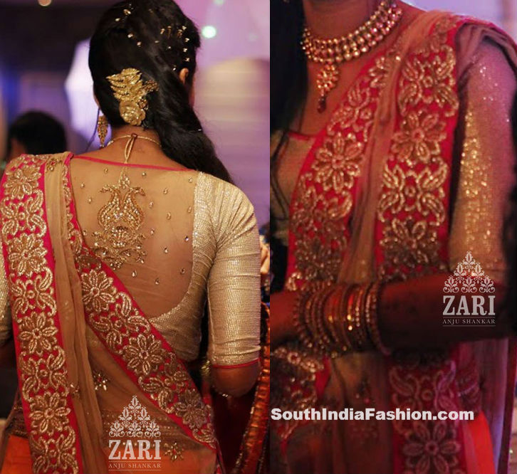 Zari Blouse Back Designs 27