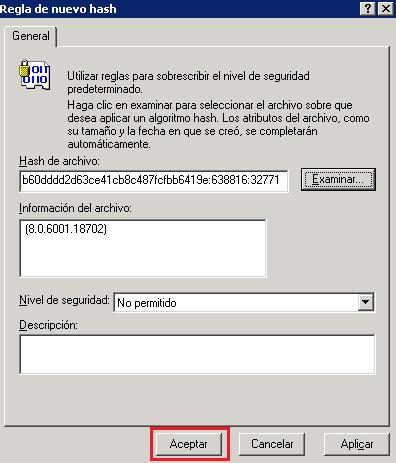 GPO: Deshabilitar el uso de Internet Explorer sobre Windows XP