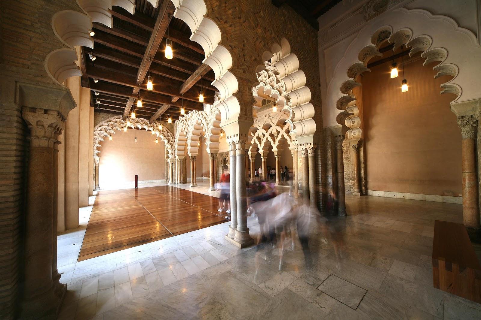 The Aljafería Palace, قصر الجعفرية Qasr al-Jaʿfariya in Zaragoza, Spain ~ Al...
