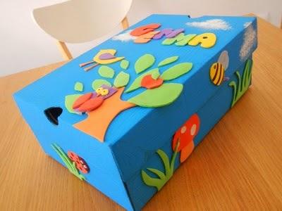 scatola-scarpe-decorata-con-gomma-crepla