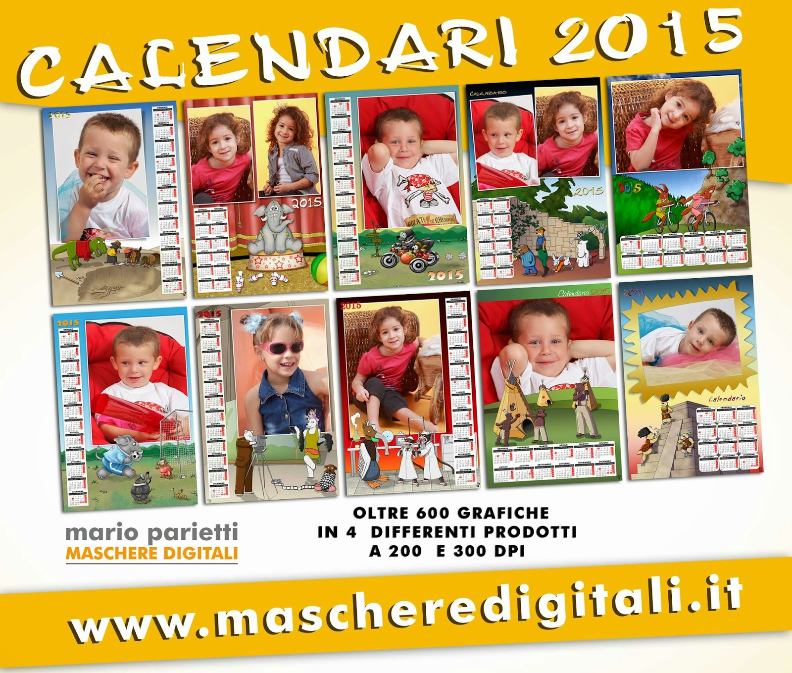 grafiche Psd per calendari 2015