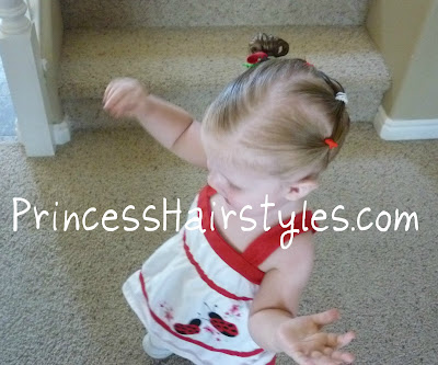 christmas hair idea for toddlers