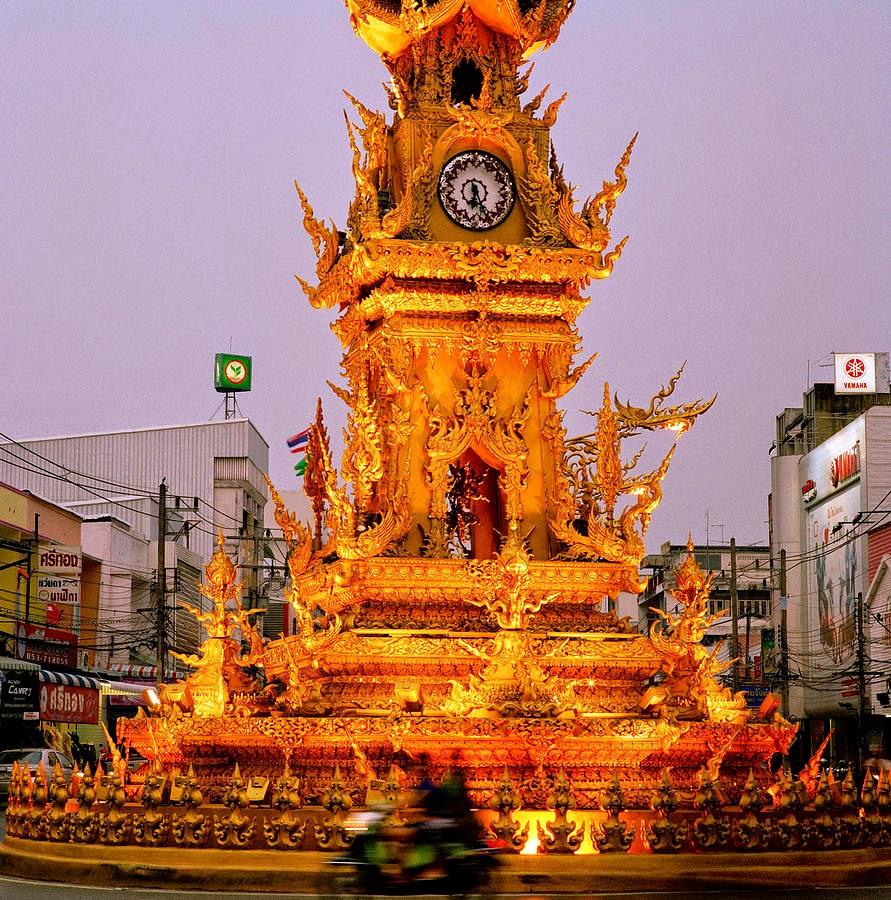 برج الساعة الذهبية في تشيانغ راي