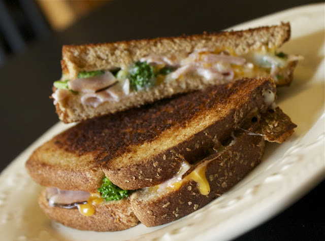 Ham and Broccoli Grilled Cheese via The Taste Tester