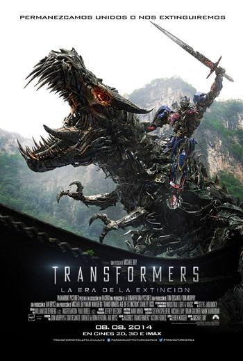 Descarga Transformers: Age of Extinction DVDRip Latino (2014) 1 link Audio Latino