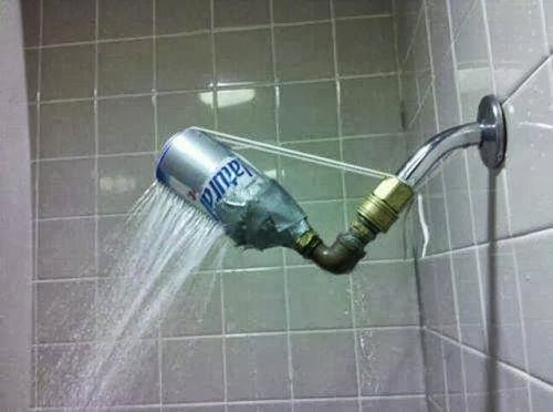 Using Bottle as Shower Head