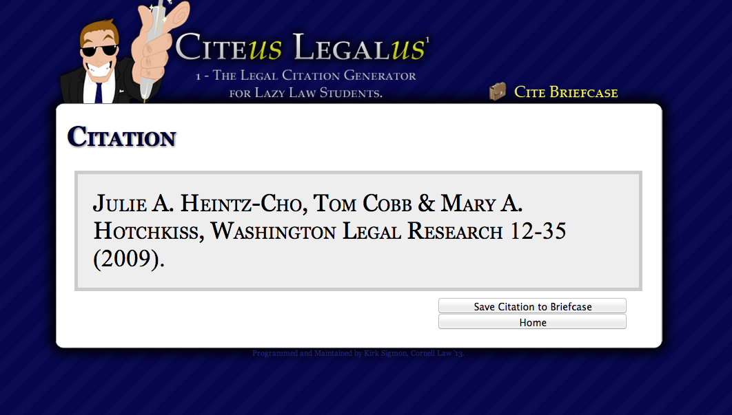 legal citation generator