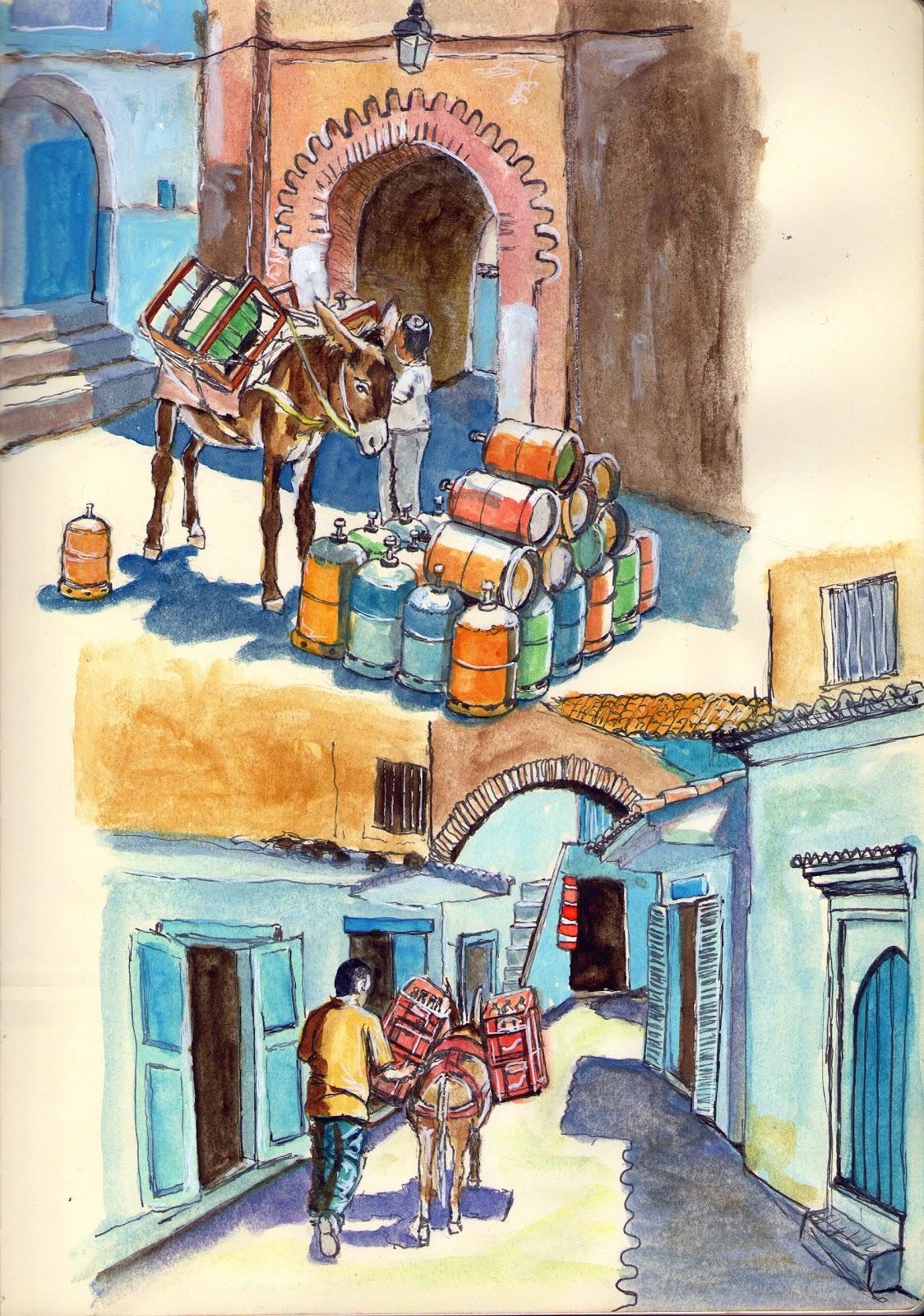 De vuelta con el cuaderno los burros de marruecos for Muebles marroquies en madrid