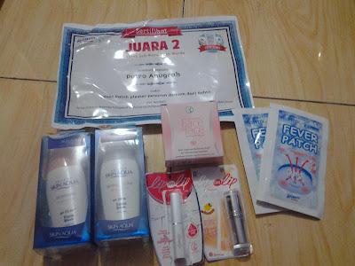 sertifikat Kontes SEO Fever Patch dan goodie Bags