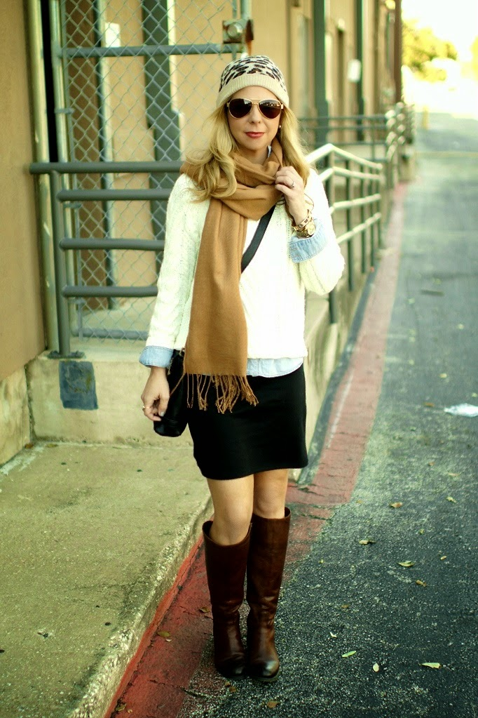 how to layer a dress for fall and winter