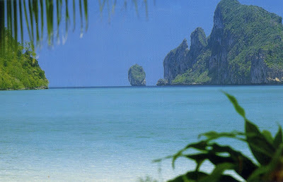 the exotic bay at Phi Phi Island Thailand