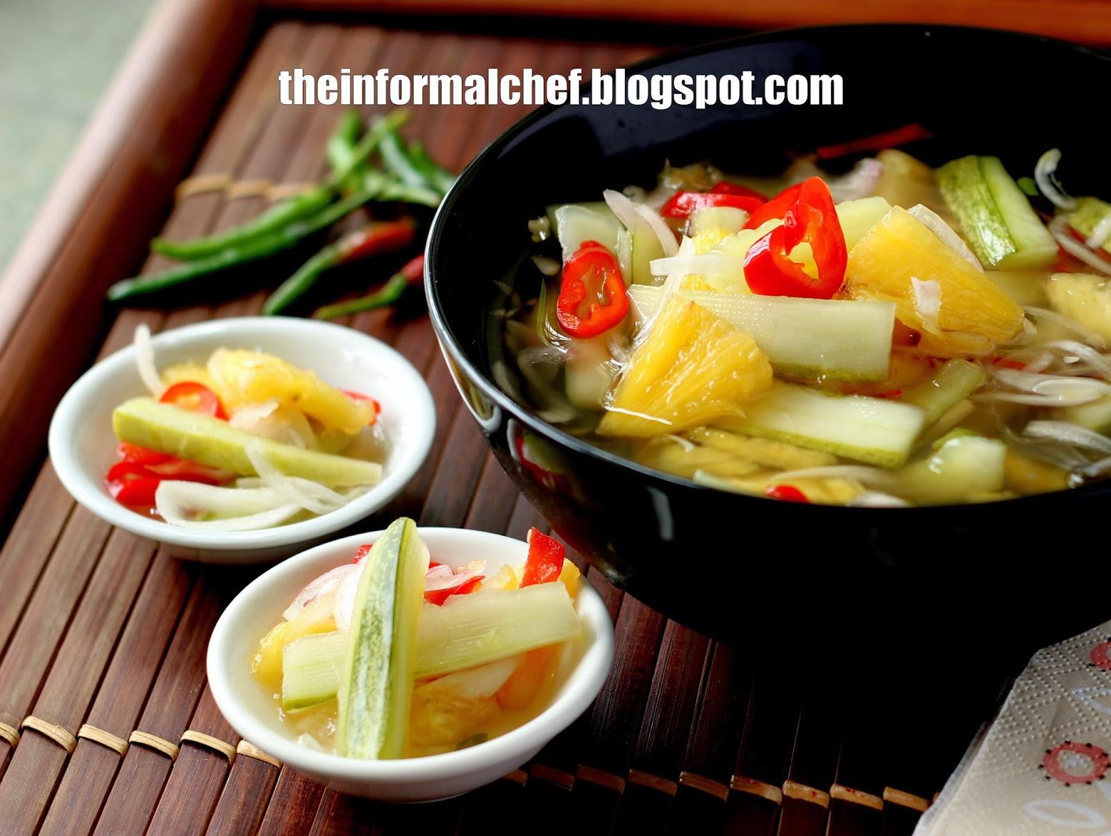 The informal chef pineapple and cucumber picklejelatah nenas dan the informal chef forumfinder Gallery