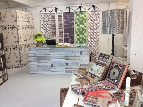 Lovely picture of the shop Paper Room with a nice selection of Ella Doran wallpapers