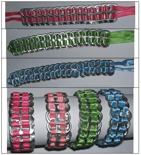 Mi bisuter a y otras manualidades complementos con chapas o anillas de latas de refresco - Manualidades con chapas de refrescos ...