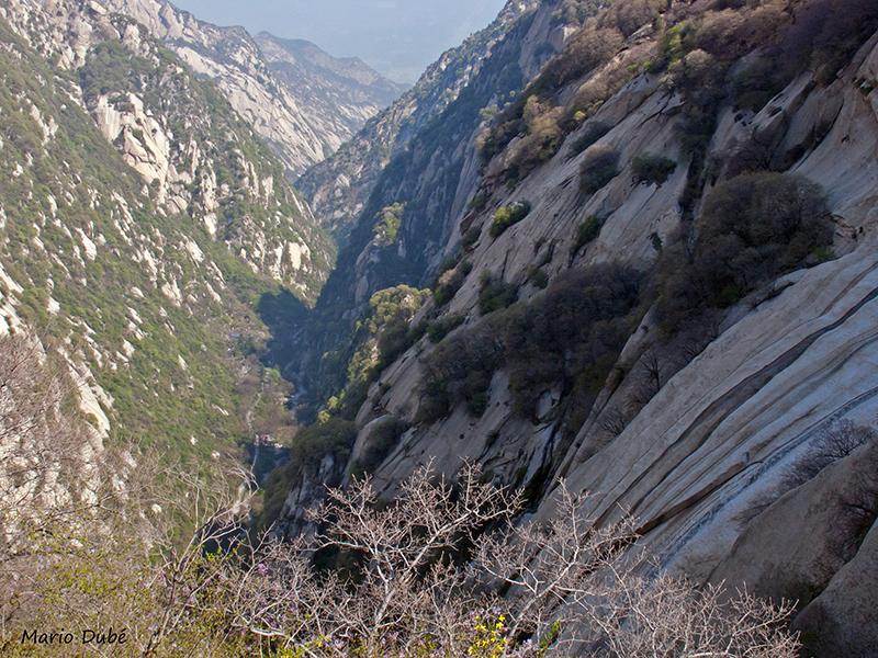Gorges au mont Hua (Chine)
