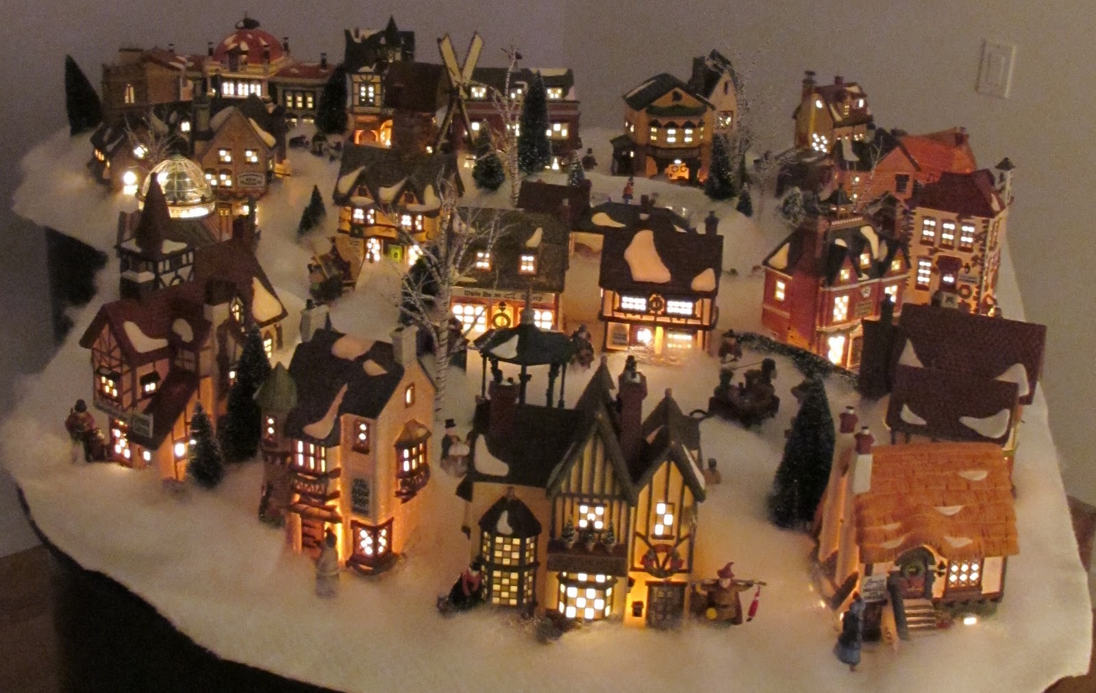 my own department 56 dickens village display 2011